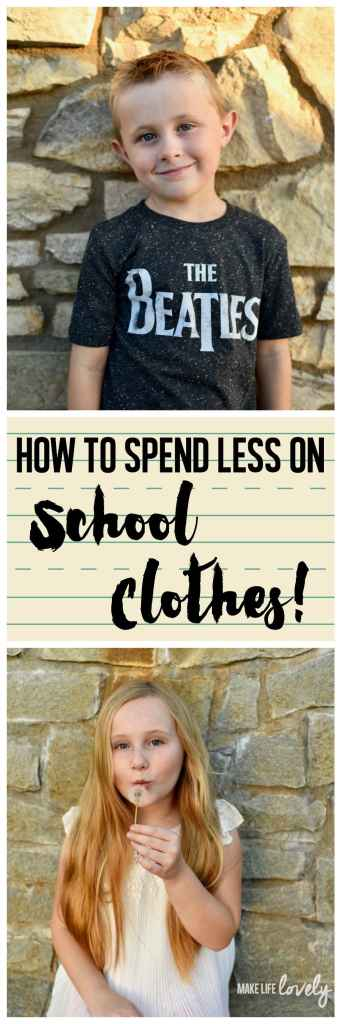 How to spend less on school clothes for kids for back to school!
