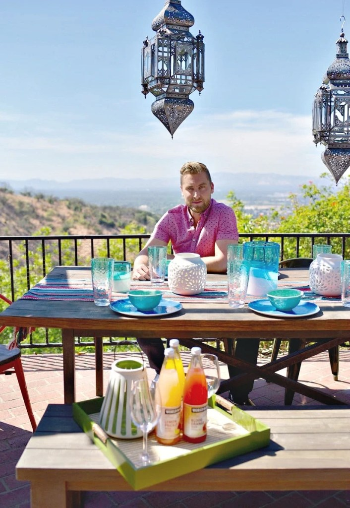 Lance Bass from Nsync backyard makeover LA home