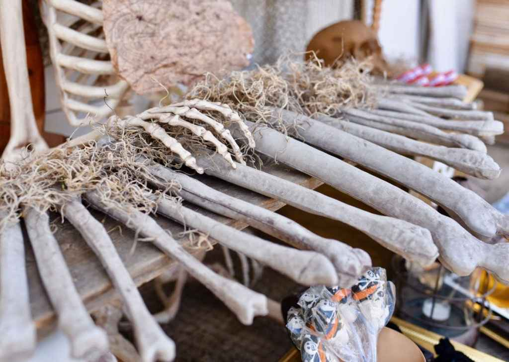 Goonies Halloween party with Goonies piano made out of bones