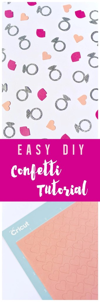 Party confetti tutorial with Cricut Explore Maker machine