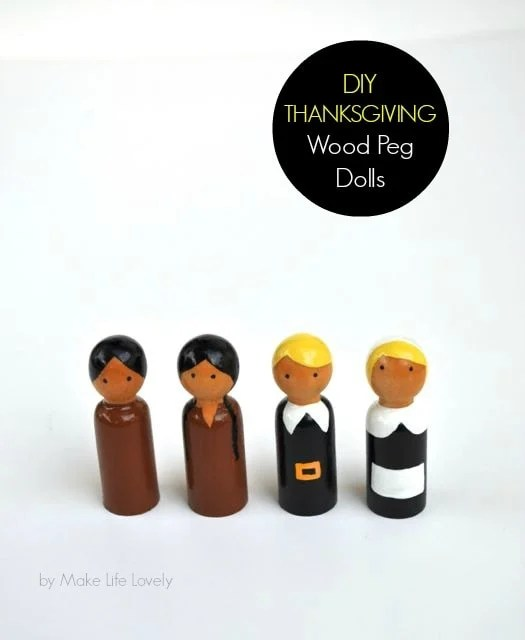 DIY Thanksgiving Wood Peg Dolls