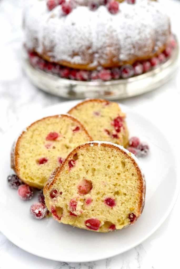 Orange cranberry bundt cake holiday dessert