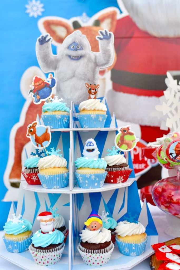 Rudolph the Red-Nosed Reindeer party cupcakes