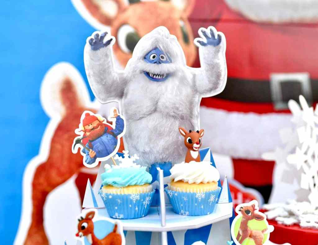 Nosed Reindeer party food abominable snow monster cupcake holder