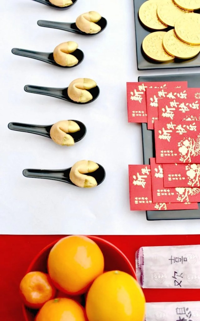 Chinese New Year party table and ideas