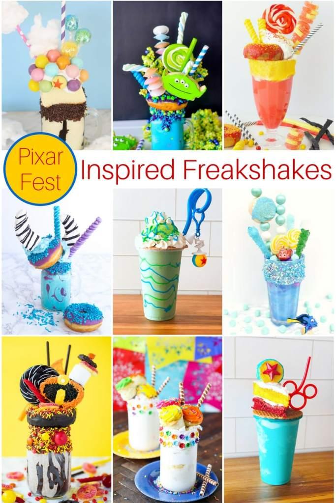 Disney Pixar Freak Shake Recipes Collage