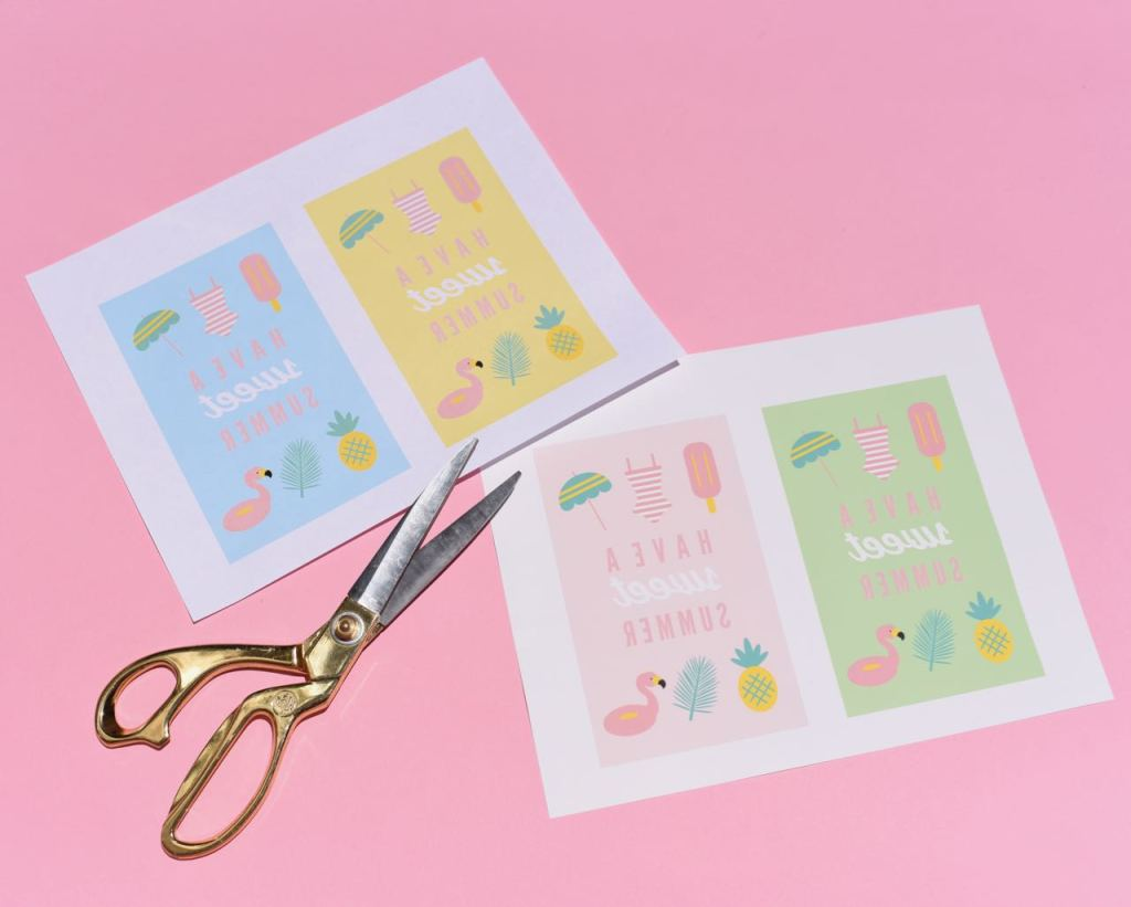 Free party favor bags printable for a summer party