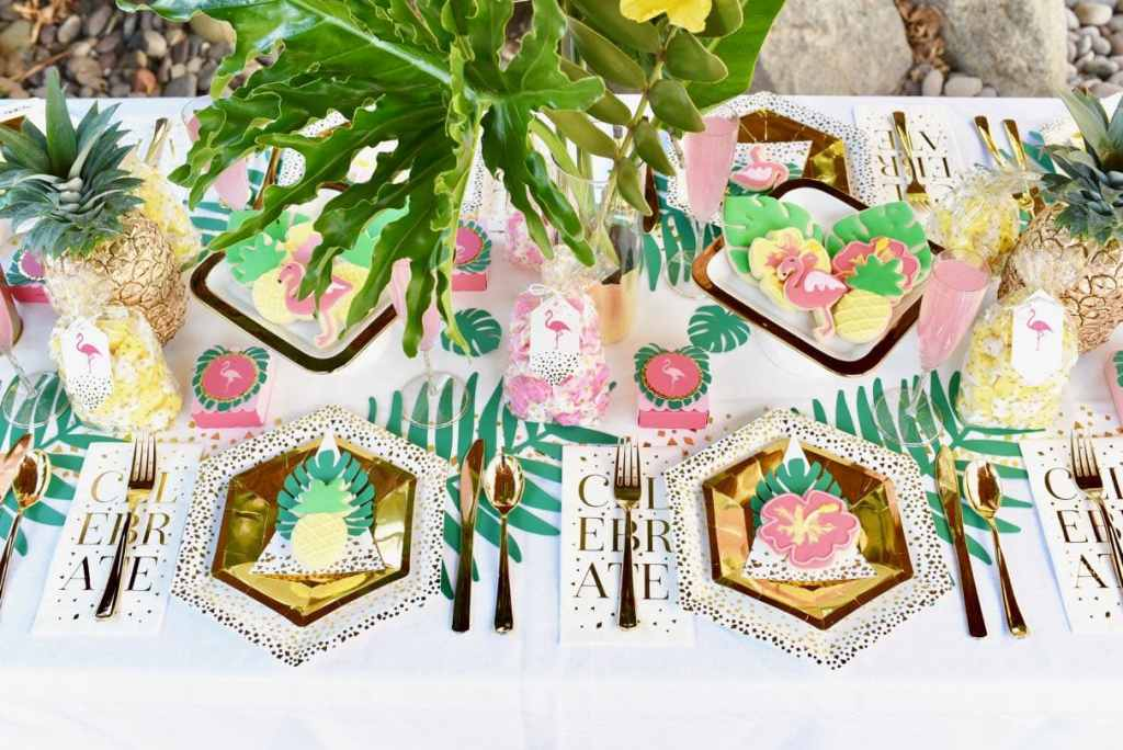 Beautiful tropical party that's perfect for a baby shower, bridal shower, or birthday party!