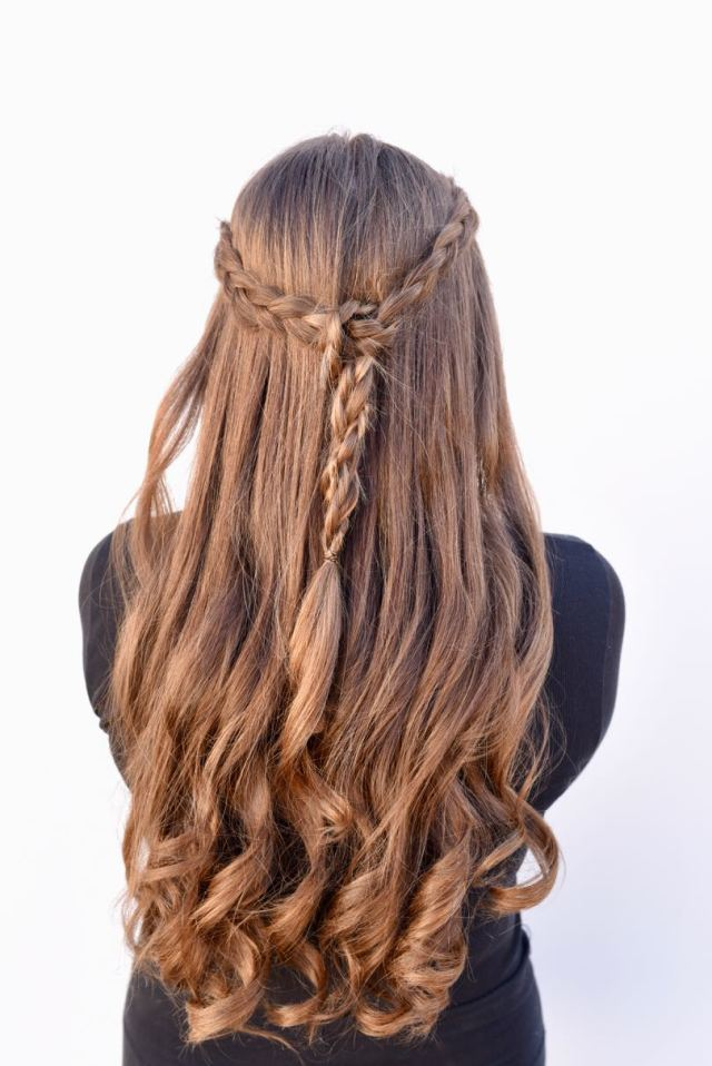 braided half up half down tutorial {easy + looks great}