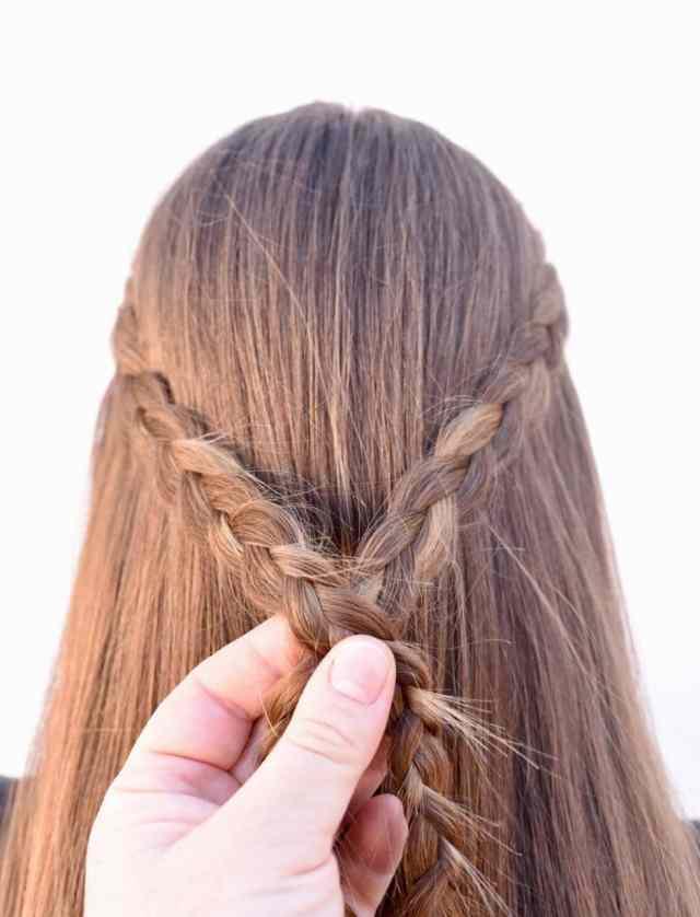braided half up half down tutorial {easy + looks great}