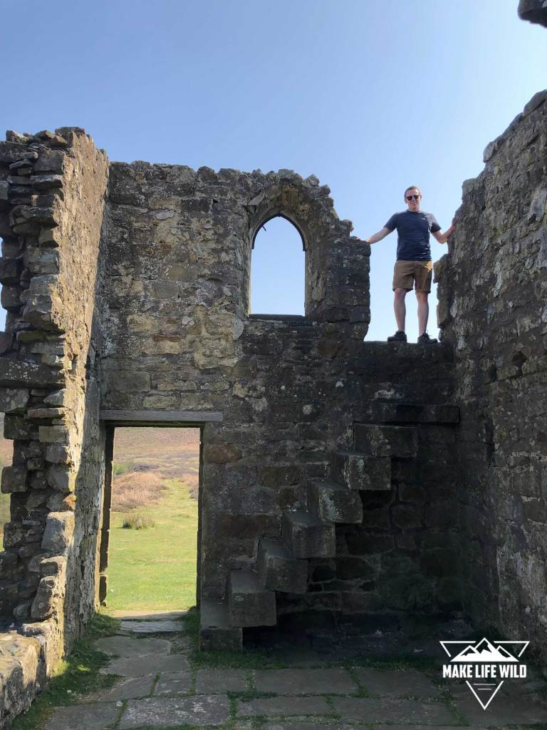 Alan climbing Skelton Tower