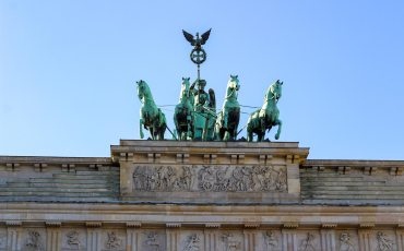 Top of Brandenburg Gate Berlin