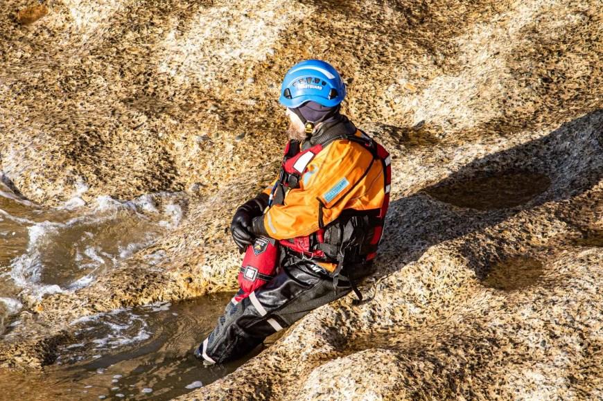 Coastguard Rescue Training at Whitby