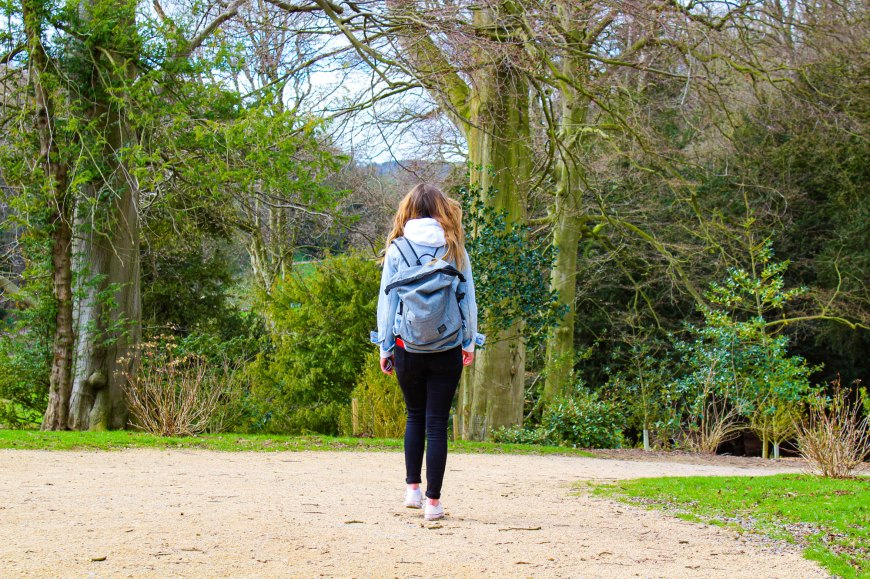 Megan at Fountains Abbey