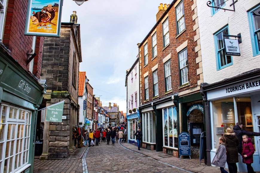 Shopping street in Whitby