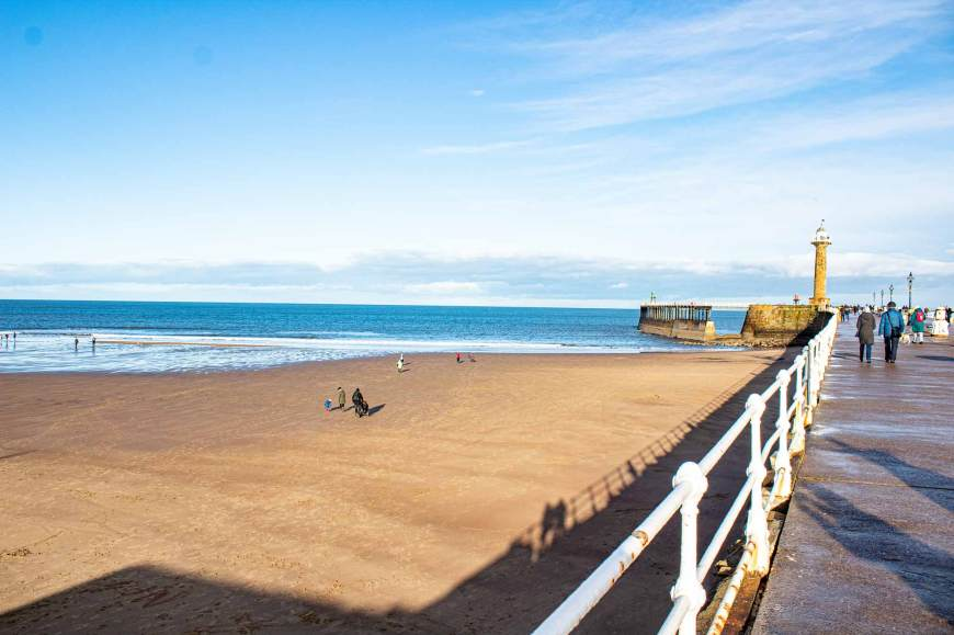 Whitby West Pier and beach