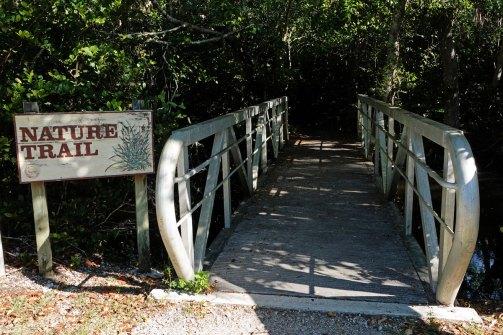 Entrance to the Tree Snail Hammock Trail.