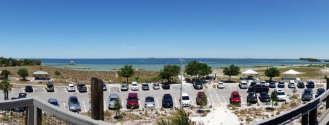 View from the observation tower at Apollo Beach Preserve.