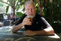 Drinking beer in Gulf Port.