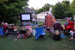 Movie night in Cabbagetown Park.