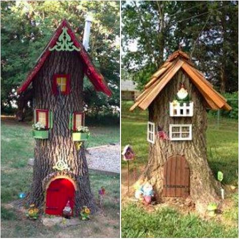 Elf house tree trunk