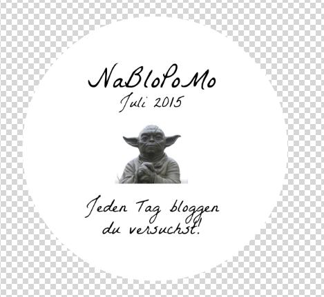 NaBloPoMo Grafik, eingebunden auf dem Blog von makellosmag.de