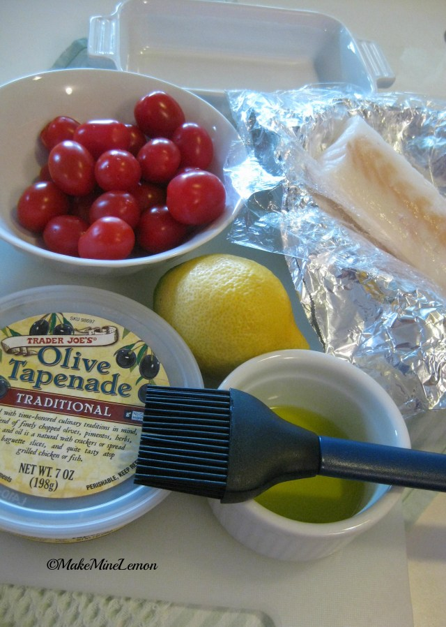 ©MakeMineLemon - Cod with Tomatoes and Tapenade Ingredients