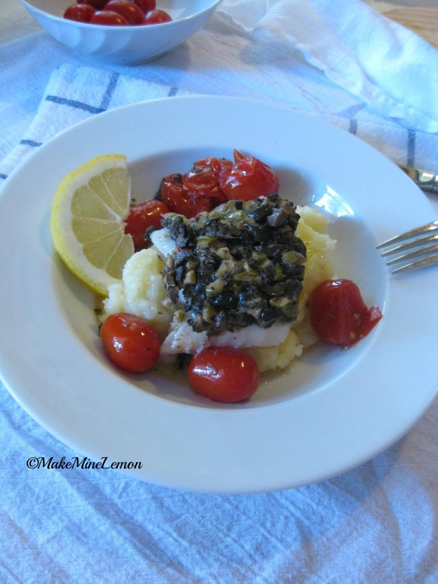 ©MakeMineLemon - Cod with Tomato and Tapenade