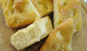 Easy Focaccia with Sesame Seeds