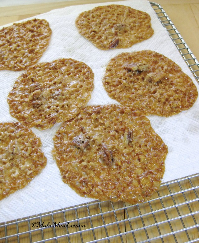 Lace Cookies on a Cooling Rack