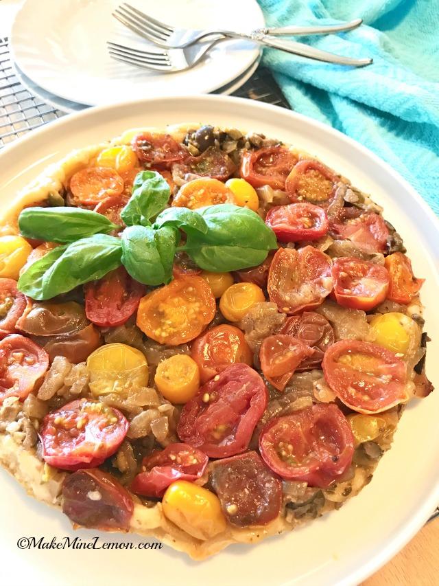 Tomato Tart Tatin Flipped