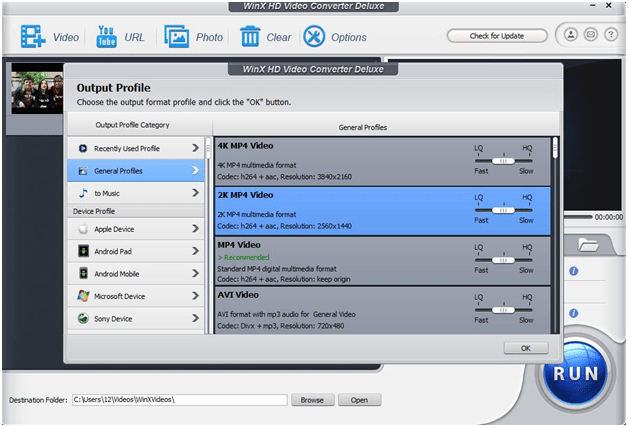 Main Advances of WinX HD Video Converter Deluxe's Features