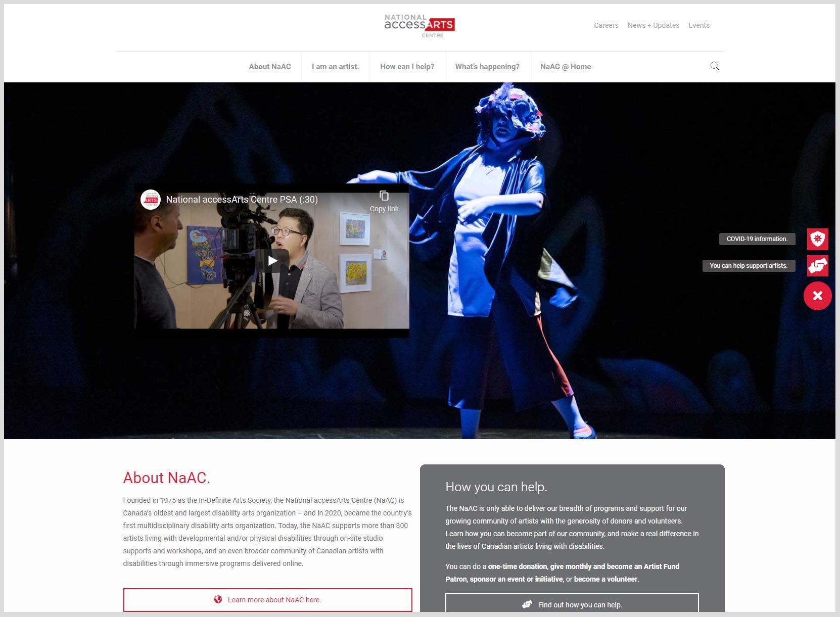 National accessArts Centre Website