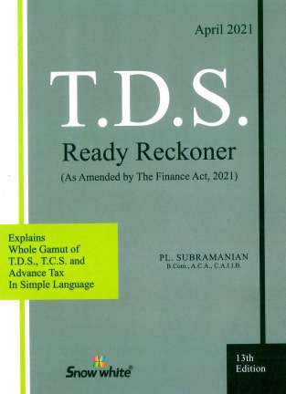 Snow White T D S Ready Reckoner By PL Subramanian