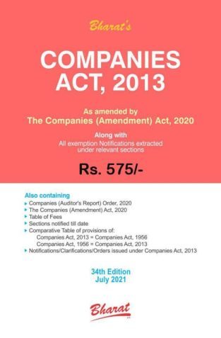 Bharat Companies Act, 2013 with Comments Edition 2021