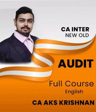 Video Lecture CA Inter Auditing and Assurance By CA AKS Krishnan