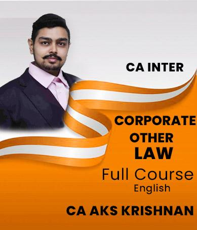 Video Lecture CA Inter Corporate and Other Laws CA AKS Krishnan