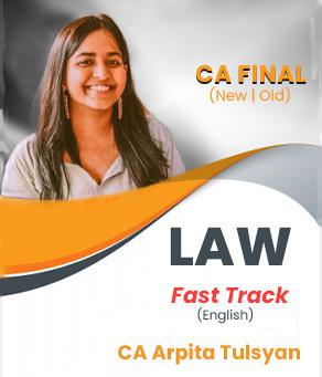 Video Lecture CA Final Laws Fast Track By CA Arpita S. Tulsyan May 2021
