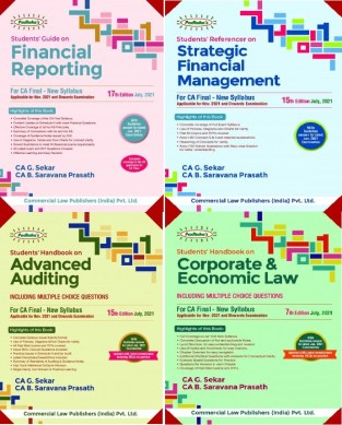 Commercial Padhuka Group 1 - All 4 Books) New Syllabus By CA G. Sekar