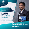 Video Lecture CA Inter Law Fast Track Full Course Darshan khare