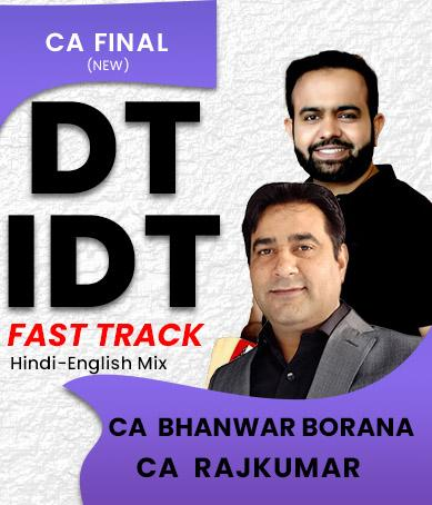 Combo CA Final Direct Tax and Indirect Tax Bhanwar Borana Rajkumar