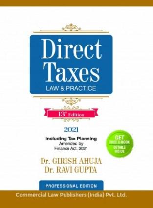 Commercial Direct Taxes Law & Practices Girish Ahuja Ravi Gupta