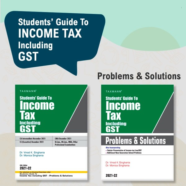 Taxmann CA Inter Income Tax including GST Problems and Solutions