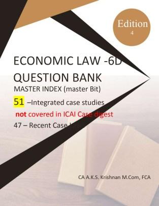 CA Final Economic Laws Elective paper 6D New CA AKS Krishnan