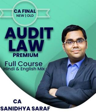 Video Lecture CA Final Combo Audit and Law Regular By Sanidhya Saraf