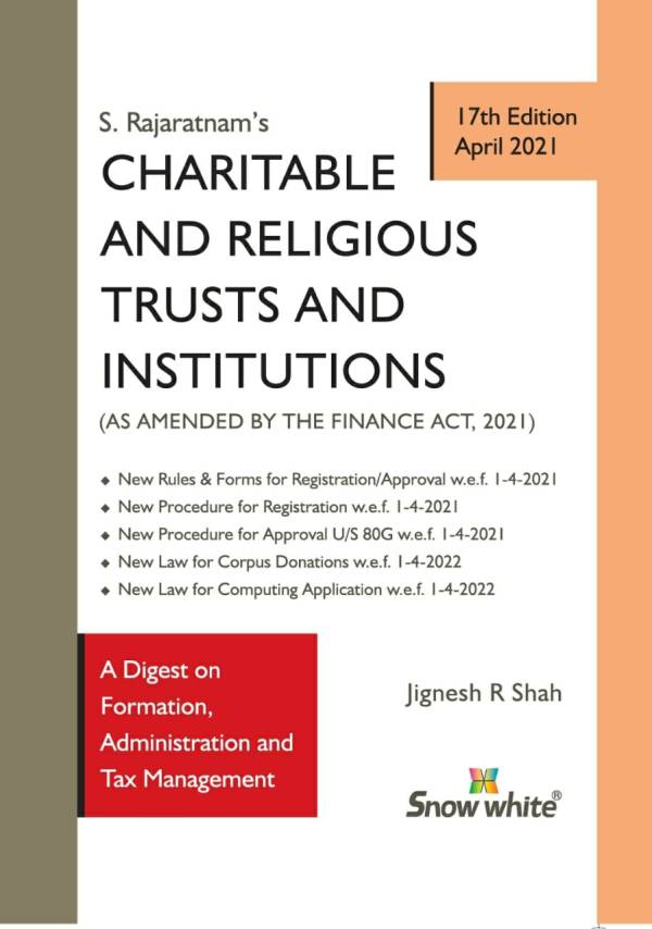 Snow White Charitable And Religious Trusts and Institutions S Rajaratnam