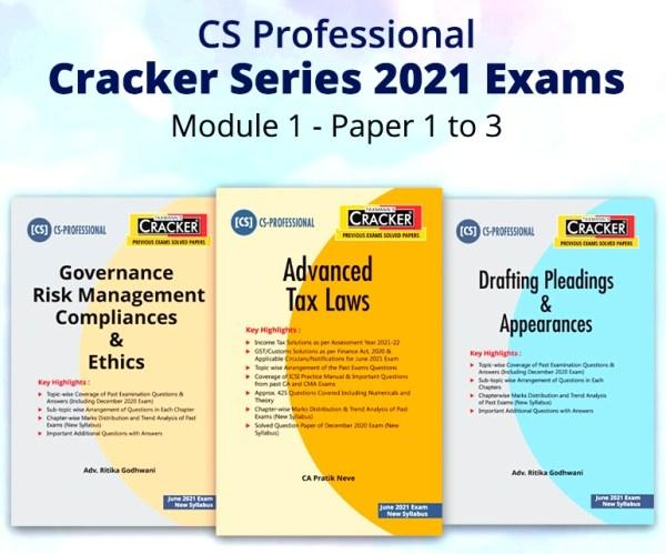 Taxmann Combo CS Professional Cracker By Ritika Godhwani