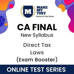 CA Final Direct Tax Laws New Syllabus Online Test Series