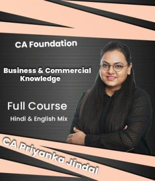Video Lectures Business Commercial Knowledge By CA Priyanka Jindal
