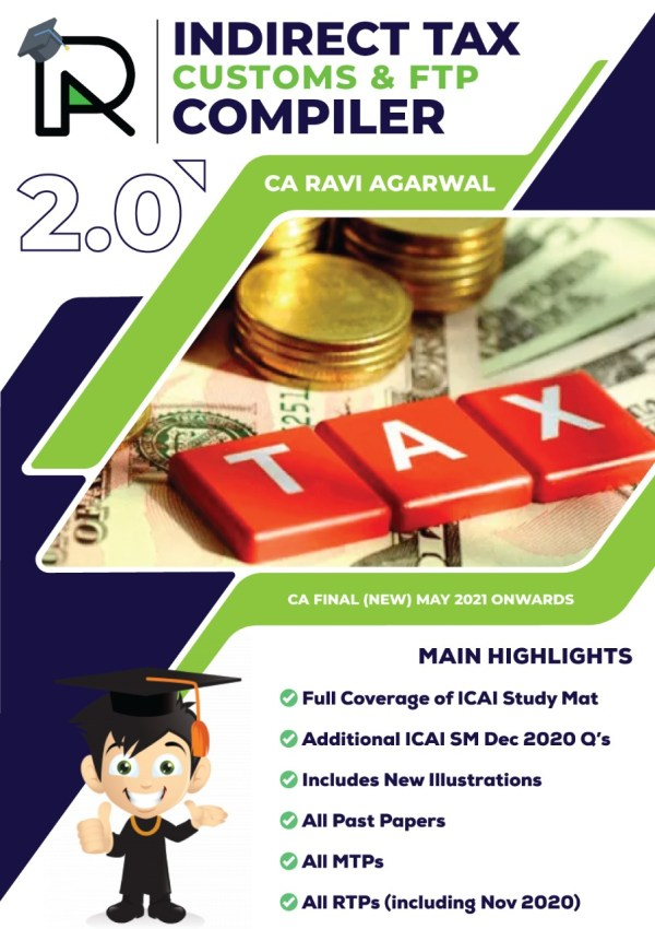 CA Final Indirect Tax Compiler 2.0 PDF New Syllabus By CA Ravi Agarwal